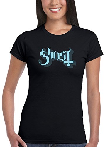 Official Ghost Blue Grey Keyline donna T-shirt Band svedese di metalli pesanti
