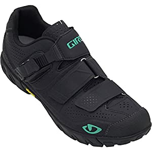 Giro Terradura Mountain Shoes - Women's Black/Dynasty Green, 39.5