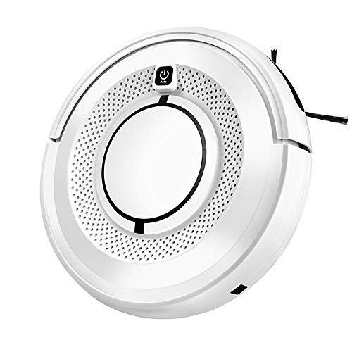 QQXICHENQI Robotic Vacuum Cleaner with Water Tank High Suction Auto Self Charging Anti Drop Collision Sensor Super Quiet Design Works for Hard Floor and Thin Carpet Pet Hair