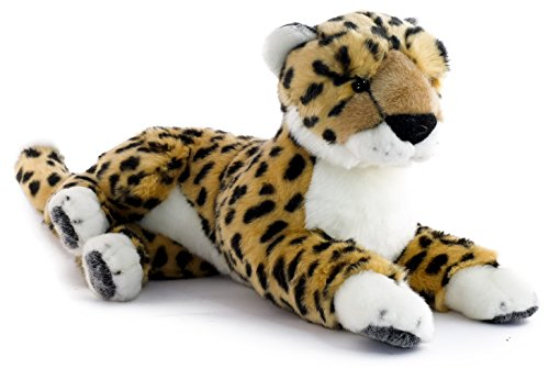 Girls Sassy Cat Animal Costumes (Chuck the Cheetah | 12 Inch (Tail Measurement not Included!) Stuffed Animal Plush | By Tiger Tale Toys)