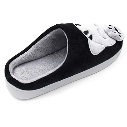 Warm Cartoon Cat Slippers Non Foam Bedroom Memory Black Shoes Fuzzy Winter Cute with ALOTUS Slip Women wnq4Yx1Cz