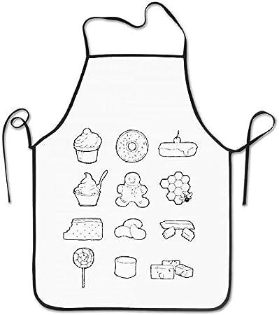 Not Applicable Tasty Treats Robots Tasty Cute Delantal de Cocina