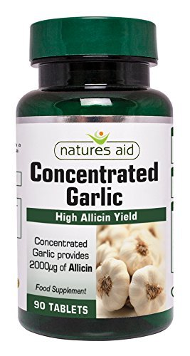 Natures Aid Garlic Concentrated 2000ug - Pack of 90 Tablets by Natures - Aid Garlic