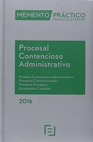 Descargar Libro 2015 Memento Practico Procesal Contencioso-administrativo Lefebvre-el Derecho