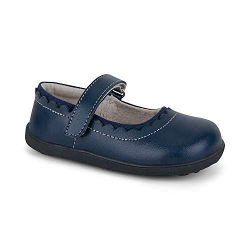 See Kai Run Girl's Jane II Flat, Navy, 7 M US - Jane Shoes Fit American Mary