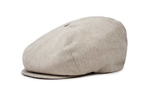 Brixton Men's Ollie Oversized Newsboy Hat, Natural, L ()