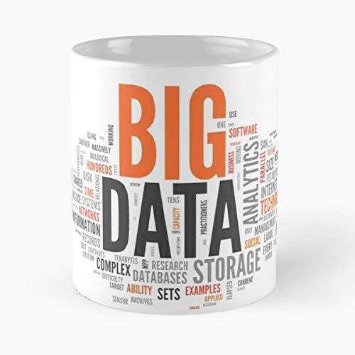 Big Data Bigdata Orange Cloud - 11 Oz White -coffee Mug- Unique Birthday Gift-the Best Gift For Holidays.