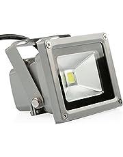 LEDMO 10W LED Flood Lights, Waterproof IP65 for Outdoor, Daylight White, 6000K, 800lm, 50W Halogen Equivalent, Security Lights, Floodlight