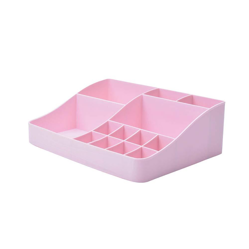 Makeup Holder Cosmetic Storage Box Case Desktop Arrange Organizer Tool (white) Spritumn