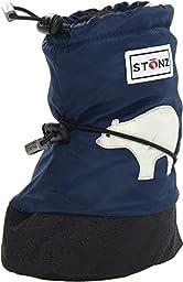 Stonz Baby Boy\'s Baby Booties (Toddler) Polar Bear/Navy Blue SM 4 M US Toddler