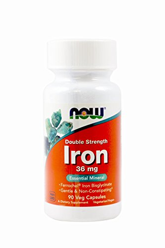 Now Foods Iron Bisglycinate Capsules, 36 mg, 90 Count