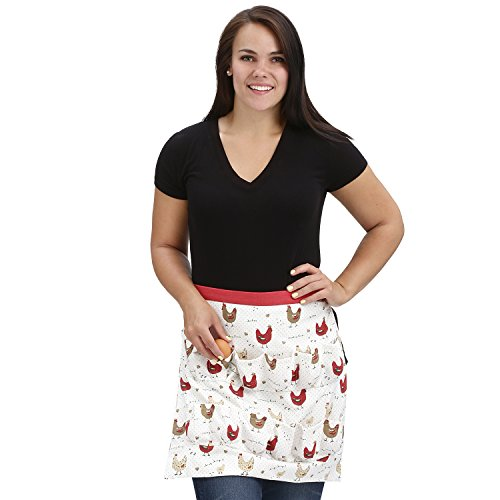 Chicken Egg Collecting & Gathering Apron 12 Pockets by Cackleberry Home, Farmhouse Chicken by Cackleberry Home (Image #1)