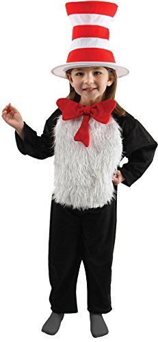 Big Boys' Deluxe Child Cat in the Hat Costume - S