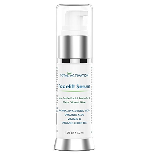 Collagen Activating Anti-Wrinkle, Vitamin C Facelift Serum for Women - Best Face Tightening Anti-Aging Formula - Lighten Dark Age Spots, Restore Elasticity & Hydrate Your Face - Look Years (Serum Anti Aging Formula)