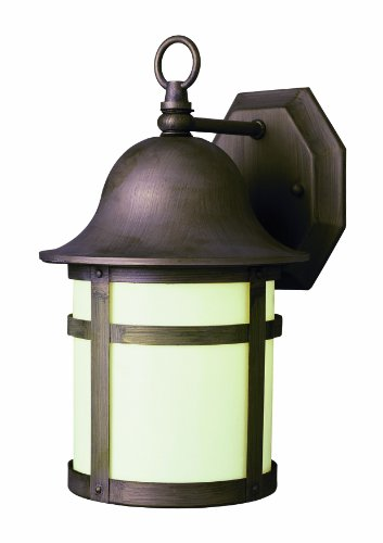 Bel Air Lighting Weathered Bronze Outdoor Wall Light