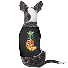 Pineapple Shirt Dog Anxiety Calming Wrap M Black