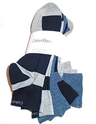 Calvin Klein Quarter Cut Ankle Socks Casual Day All Sport Cushioned Athletic- 6 Pairs