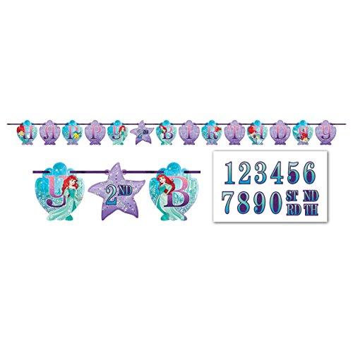 Ribbon Letter Banner   Disney Ariel Dream Big Collection   Birthday
