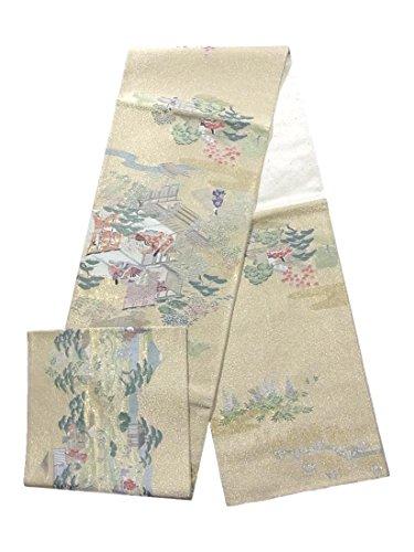 警戒失速遠洋のリサイクル 袋帯 寿光織 伊勢物語 正絹
