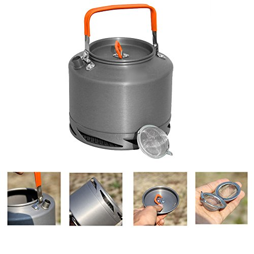 Fire Maple FMC-XT2 Portable Aluminum 1.5L Heat Collecting Exchanger Kettle Tea Coffee Pot Outdoor Camping Picnic Cookware by TO_GeT For Camping Accessories TgT