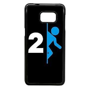 2 Logo caja del teléfono funda Samsung Galaxy S6 Edge Plus Cell Portal funda W4A5SLRAGF negro