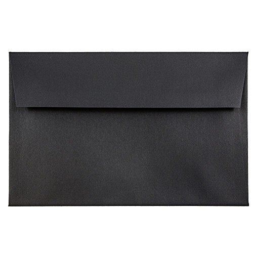 - JAM PAPER A8 Premium Invitation Envelopes - 5 1/2 x 8 1/8 - Black Linen - 50/Pack