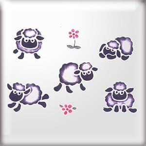 La plantilla para estarcir Studio Little ovejas plantilla reutilizable–tamaño pequeño (A4) (10166s)