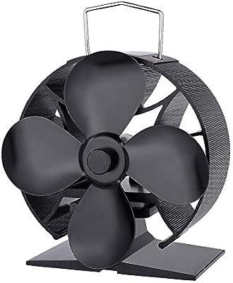 aheadad Chimeneas Ventilador La Estufa Ventilador Calor Ventilador Protección Deflector Circular Aluminio Diseño ...