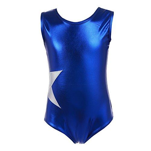 TiaoBug Girls Criss-Cross Back Sleeveless Gymnastics Biketard Athletic Dance Sport Tumbling Class Unitards Bodysuit Jumpsuit