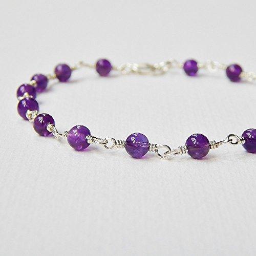 - Amethyst Bracelet in Sterling Silver
