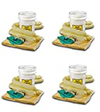 ESP SK-H5 16 Piece 5 Gallons Hazmat Absorbent Spill Kit, 5 Gallons Oil Absorbency (Pack of 4)