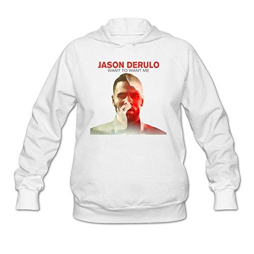 LaviV Women's Jason Derulo Want To Want Me Everything Is 4 Sweatshirt White (Jason Derulo Sweatshirt)