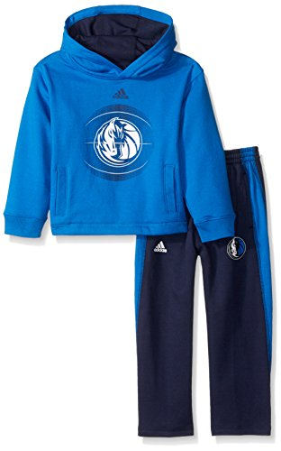 NBA Toddler Dallas Mavericks Classic Fan fleece Set, 3T, Bright Blue