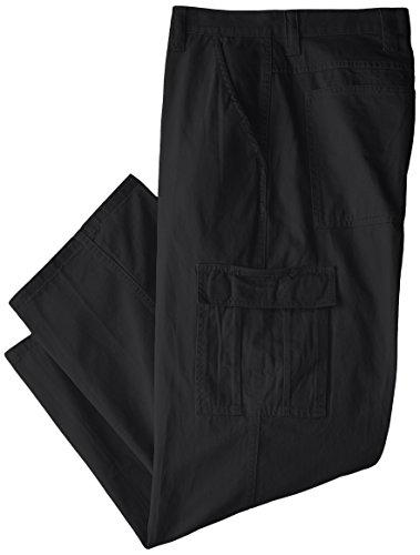 (Wrangler Men's Big-Tall Authentics Classic Cargo Pant, Black Twill, 48x32)