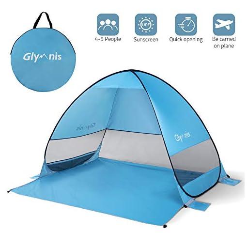 Glymnis-Beach-Tent-Beach-Sun-Shelter-Pop-Up-Beach-Shade-Tent-with-Portable-Sun-Shade-UPF-50-for-Outdoor-Activities-Beach-Traveling-Blue