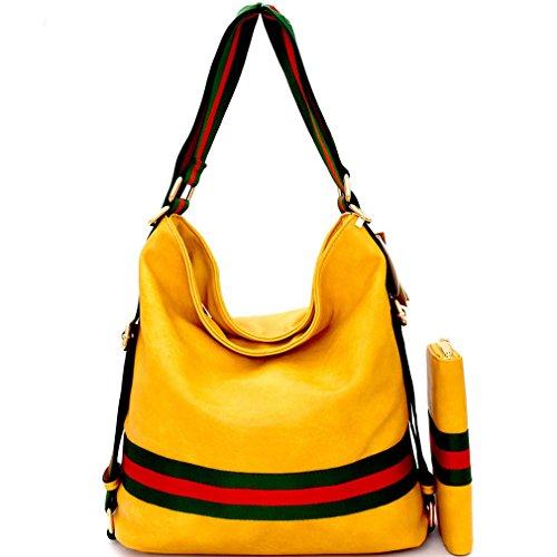 Hobo Handbag Wallet Republic Multi Versatile New Yellow Stripe Backpack XgxUOXwqZ
