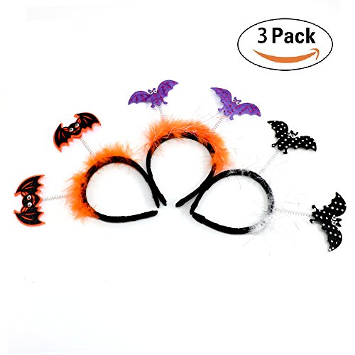Christmas Kids Headband, Witch headband ,Funny Bat Witch Pumpkin Hair Hoop Costume Party Creative Gift 3PCS Bat Witch