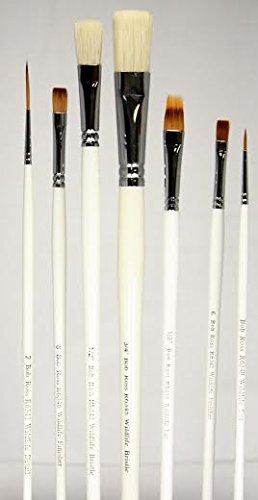 Bob Ross Complete 7 Piece Wildlife Long-Handle Brush Set by BobRoss