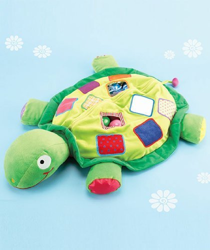 Plush Turtle Ball Pit with 25 Colored Play Balls