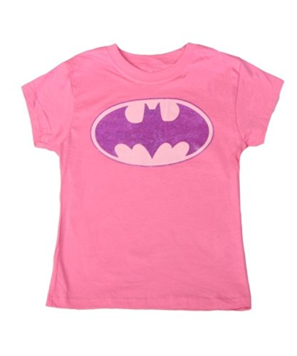 Glitter Logo Tee (Bioworld Merchandising/Independent Sales Girls Big Girls' Batman Glitter Logo T-Shirt)