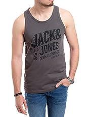Jack & Jones heren tank top print shirt ronde hals thee regular fit spiershirt
