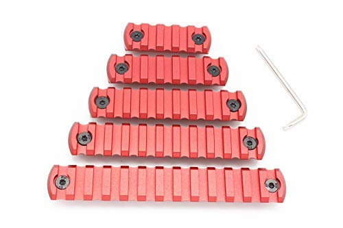 11 Slots M-lok Picatinny/Weaver Rail Sections Red Anodized for M-lok Handguard System by Active-8
