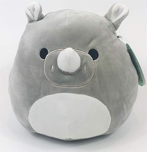 35f8141a3551 Squishmallow - 8 Inch - Irving The Rhino | Super Soft Plush Pet Toy |  Cuddly Pillow Pal | Grey/White | Original Kellytoy