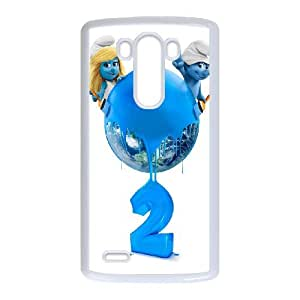 Personlised Printed The Smurfs Phone Case For LG G3 VY2E02018