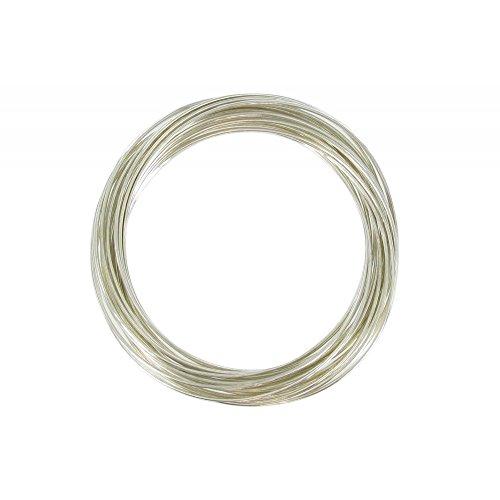 Les Poulettes Bijoux - V Bracelet Argent Massif - Multiples Jonc Argent 925 - Diamètre 6.3 cm