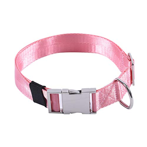 (Puppy Face Durable Dog Collar with Metal Buckle,Nylon Collars for Dogs (Medium:Neck 14