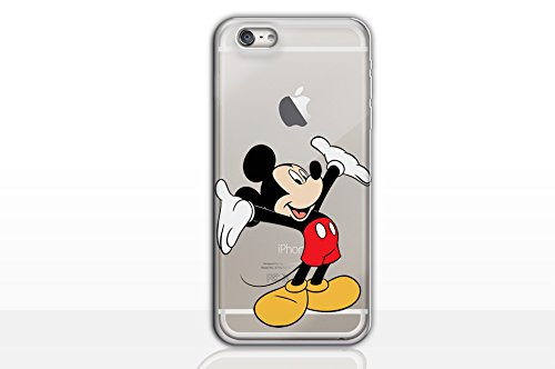 iPhone 5c Cartoon Silicone Phone Case / Gel Cover for Apple iPhone 5C / Screen Protector & Cloth / iCHOOSE / Mickey Mouse