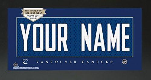 Amazon.com - Vancouver Canucks NHL Custom Jersey Nameplate Framed Sign - 7c1ce1df2