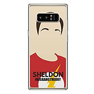Samsung Galaxy Note 8 Transparent Edge The Big Bang Theory Sheldon Cooper - Sleek Design Rugged Favorite Phone cover