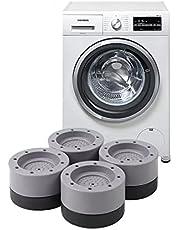 4 stukken Wasmachine Voetpads Anti Trillingen Anti Slip Rubber Pad Wasmachine Anti-Vibratie Pad Voorkom Lawaai Bescherm en Vast Meubels Universele Trillingsdemper voor Wasmachine , Droger ,Koelkast.